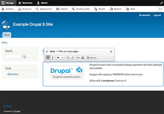 Drupal 8 Inline Edit
